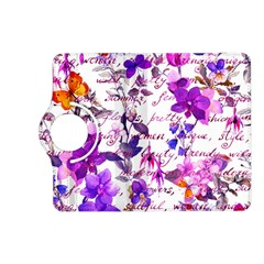Ultra Violet,shabby Chic,flowers,floral,vintage,typography,beautiful Feminine,girly,pink,purple Kindle Fire Hd (2013) Flip 360 Case