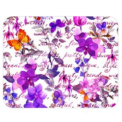 Ultra Violet,shabby Chic,flowers,floral,vintage,typography,beautiful Feminine,girly,pink,purple Double Sided Flano Blanket (medium)