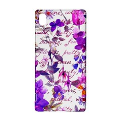 Ultra Violet,shabby Chic,flowers,floral,vintage,typography,beautiful Feminine,girly,pink,purple Sony Xperia Z3+