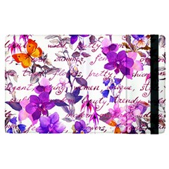 Ultra Violet,shabby Chic,flowers,floral,vintage,typography,beautiful Feminine,girly,pink,purple Apple Ipad Pro 9 7   Flip Case