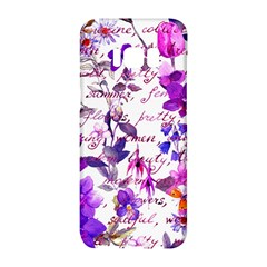 Ultra Violet,shabby Chic,flowers,floral,vintage,typography,beautiful Feminine,girly,pink,purple Samsung Galaxy S8 Hardshell Case