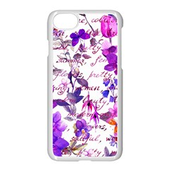 Ultra Violet,shabby Chic,flowers,floral,vintage,typography,beautiful Feminine,girly,pink,purple Apple Iphone 8 Seamless Case (white)