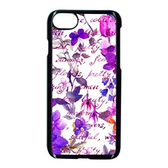 Ultra Violet,shabby Chic,flowers,floral,vintage,typography,beautiful Feminine,girly,pink,purple Apple Iphone 8 Seamless Case (black)