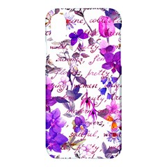 Ultra Violet,shabby Chic,flowers,floral,vintage,typography,beautiful Feminine,girly,pink,purple Apple Iphone X Hardshell Case