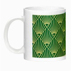 Teal,beige,art Nouveau,vintage,original,belle ¨|poque,fan Pattern,geometric,elegant,chic Night Luminous Mugs