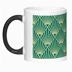 Teal,beige,art Nouveau,vintage,original,belle ¨|poque,fan Pattern,geometric,elegant,chic Morph Mugs