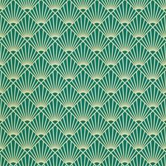 Teal,beige,art Nouveau,vintage,original,belle ¨ poque,fan Pattern,geometric,elegant,chic Magic Photo Cubes