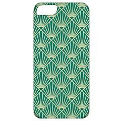 Teal,beige,art Nouveau,vintage,original,belle ¨|poque,fan Pattern,geometric,elegant,chic Apple Iphone 5 Classic Hardshell Case
