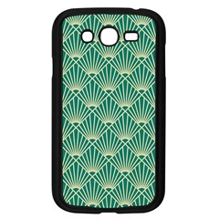 Teal,beige,art Nouveau,vintage,original,belle ¨|poque,fan Pattern,geometric,elegant,chic Samsung Galaxy Grand Duos I9082 Case (black)