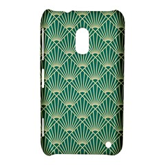 Teal,beige,art Nouveau,vintage,original,belle ¨|poque,fan Pattern,geometric,elegant,chic Nokia Lumia 620