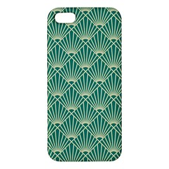 Teal,beige,art Nouveau,vintage,original,belle ¨|poque,fan Pattern,geometric,elegant,chic Iphone 5s/ Se Premium Hardshell Case