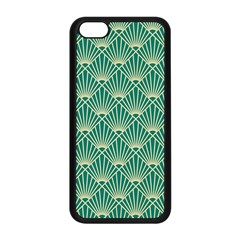 Teal,beige,art Nouveau,vintage,original,belle ¨|poque,fan Pattern,geometric,elegant,chic Apple Iphone 5c Seamless Case (black)