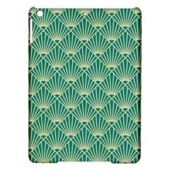 Teal,beige,art Nouveau,vintage,original,belle ¨|poque,fan Pattern,geometric,elegant,chic Ipad Air Hardshell Cases