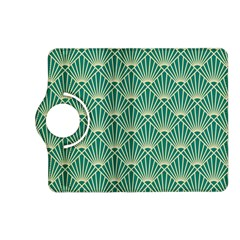 Teal,beige,art Nouveau,vintage,original,belle ¨|poque,fan Pattern,geometric,elegant,chic Kindle Fire Hd (2013) Flip 360 Case