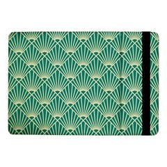 Teal,beige,art Nouveau,vintage,original,belle ¨|poque,fan Pattern,geometric,elegant,chic Samsung Galaxy Tab Pro 10 1  Flip Case