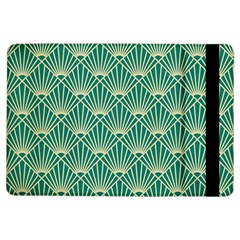 Teal,beige,art Nouveau,vintage,original,belle ¨|poque,fan Pattern,geometric,elegant,chic Ipad Air Flip