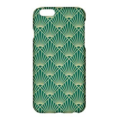 Teal,beige,art Nouveau,vintage,original,belle ¨|poque,fan Pattern,geometric,elegant,chic Apple Iphone 6 Plus/6s Plus Hardshell Case