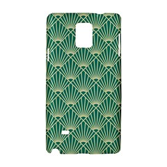 Teal,beige,art Nouveau,vintage,original,belle ¨|poque,fan Pattern,geometric,elegant,chic Samsung Galaxy Note 4 Hardshell Case