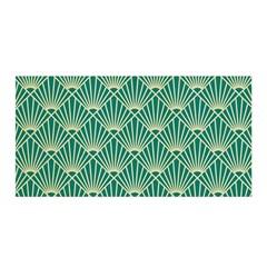 Teal,beige,art Nouveau,vintage,original,belle ¨|poque,fan Pattern,geometric,elegant,chic Satin Wrap