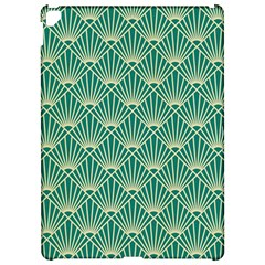 Teal,beige,art Nouveau,vintage,original,belle ¨|poque,fan Pattern,geometric,elegant,chic Apple Ipad Pro 12 9   Hardshell Case