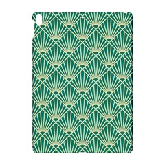 Teal,beige,art Nouveau,vintage,original,belle ¨|poque,fan Pattern,geometric,elegant,chic Apple Ipad Pro 10 5   Hardshell Case