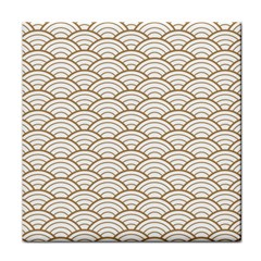 Gold,white,art Deco,vintage,shell Pattern,asian Pattern,elegant,chic,beautiful Tile Coasters