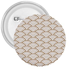Gold,white,art Deco,vintage,shell Pattern,asian Pattern,elegant,chic,beautiful 3  Buttons