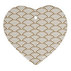 Gold,white,art Deco,vintage,shell Pattern,asian Pattern,elegant,chic,beautiful Ornament (heart)
