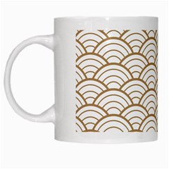 Gold,white,art Deco,vintage,shell Pattern,asian Pattern,elegant,chic,beautiful White Mugs