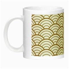 Gold,white,art Deco,vintage,shell Pattern,asian Pattern,elegant,chic,beautiful Night Luminous Mugs