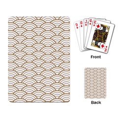 Gold,white,art Deco,vintage,shell Pattern,asian Pattern,elegant,chic,beautiful Playing Card
