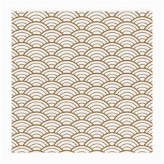 Gold,white,art Deco,vintage,shell Pattern,asian Pattern,elegant,chic,beautiful Medium Glasses Cloth (2 Side)