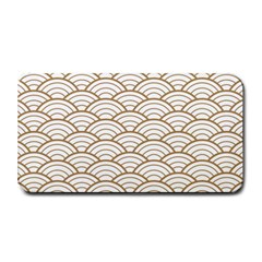 Gold,white,art Deco,vintage,shell Pattern,asian Pattern,elegant,chic,beautiful Medium Bar Mats