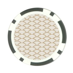 Gold,white,art Deco,vintage,shell Pattern,asian Pattern,elegant,chic,beautiful Poker Chip Card Guard (10 Pack)