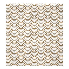 Gold,white,art Deco,vintage,shell Pattern,asian Pattern,elegant,chic,beautiful Shower Curtain 66  X 72  (large)