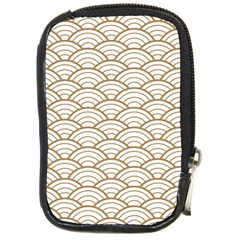 Gold,white,art Deco,vintage,shell Pattern,asian Pattern,elegant,chic,beautiful Compact Camera Cases