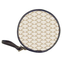 Gold,white,art Deco,vintage,shell Pattern,asian Pattern,elegant,chic,beautiful Classic 20 Cd Wallets