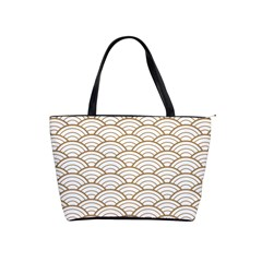 Gold,white,art Deco,vintage,shell Pattern,asian Pattern,elegant,chic,beautiful Shoulder Handbags