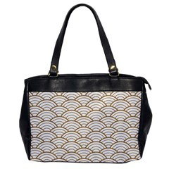 Gold,white,art Deco,vintage,shell Pattern,asian Pattern,elegant,chic,beautiful Office Handbags