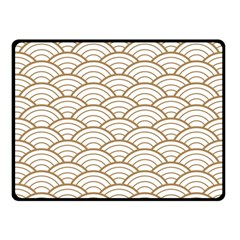 Gold,white,art Deco,vintage,shell Pattern,asian Pattern,elegant,chic,beautiful Fleece Blanket (small)