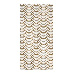 Gold,white,art Deco,vintage,shell Pattern,asian Pattern,elegant,chic,beautiful Shower Curtain 36  X 72  (stall)