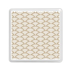 Gold,white,art Deco,vintage,shell Pattern,asian Pattern,elegant,chic,beautiful Memory Card Reader (square)