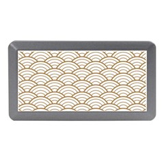 Gold,white,art Deco,vintage,shell Pattern,asian Pattern,elegant,chic,beautiful Memory Card Reader (mini)