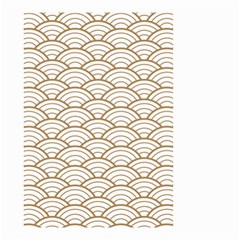 Gold,white,art Deco,vintage,shell Pattern,asian Pattern,elegant,chic,beautiful Small Garden Flag (two Sides)