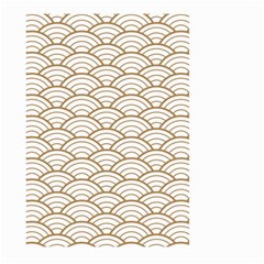 Gold,white,art Deco,vintage,shell Pattern,asian Pattern,elegant,chic,beautiful Large Garden Flag (two Sides)