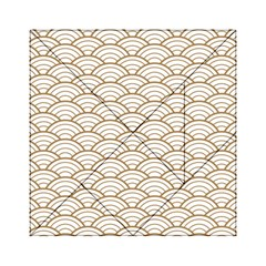 Gold,white,art Deco,vintage,shell Pattern,asian Pattern,elegant,chic,beautiful Acrylic Tangram Puzzle (6  X 6 )