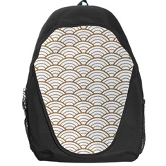 Gold,white,art Deco,vintage,shell Pattern,asian Pattern,elegant,chic,beautiful Backpack Bag