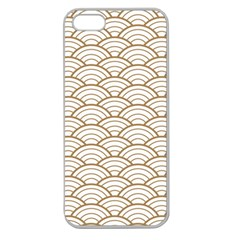 Gold,white,art Deco,vintage,shell Pattern,asian Pattern,elegant,chic,beautiful Apple Seamless Iphone 5 Case (clear)