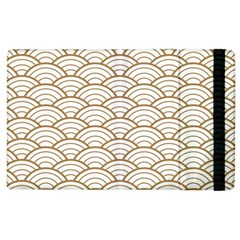 Gold,white,art Deco,vintage,shell Pattern,asian Pattern,elegant,chic,beautiful Apple Ipad 2 Flip Case
