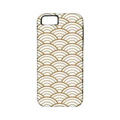 Gold,white,art Deco,vintage,shell Pattern,asian Pattern,elegant,chic,beautiful Apple Iphone 5 Classic Hardshell Case (pc+silicone)